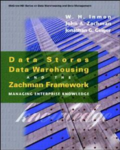 Cover of the book Data stores, data warehousing and the Zachman framework : managing enterprise knowledge (paper)