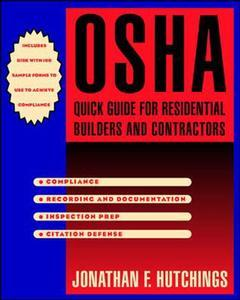 Cover of the book OSHA quick guide for residential builders and contractors (paper)