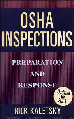 Couverture de l'ouvrage OSHA inspections preparation and response