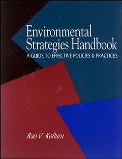 Couverture de l'ouvrage Environmental strategies handbook, a gui de to effective business policies and practices