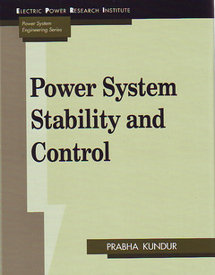 Couverture de l'ouvrage Power System Stability and Control