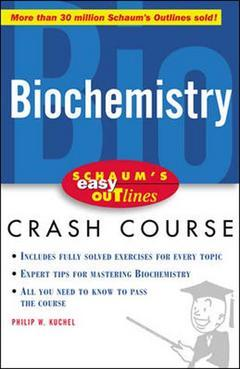 Couverture de l'ouvrage Schaum's outline of biochemistry, 2nd ed 1997 (paper)