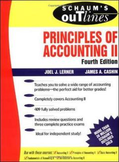 Couverture de l'ouvrage Schaum's outline of principles of accounting II, 4th edition (paper)
