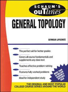 Couverture de l'ouvrage General topology schaum