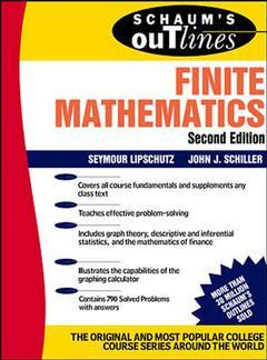 Cover of the book Schaum outline of finite mathematics (2nd ed 95) paper