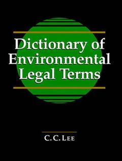 Cover of the book Dictionary environmental legal terms