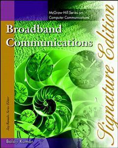 Couverture de l'ouvrage Broadband communications, signature edition (paper)