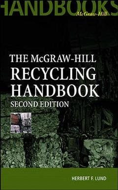 Couverture de l'ouvrage McGraw Hill recycling handbook, 2nd ed 2000