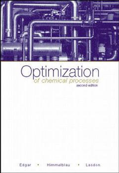 Cover of the book Optimization of chemical processes