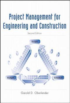 Couverture de l'ouvrage Project management for engineers and construction, 2nd ed 2000