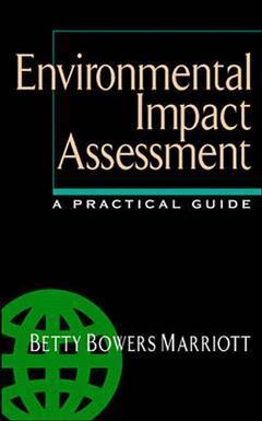Couverture de l'ouvrage Environmental impact assessment : a practical guide