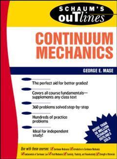 Couverture de l'ouvrage Continuum mechanics (Schaum)