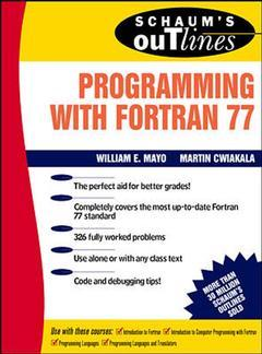 Cover of the book schaum outline of programming with Fortran 77 (paper)