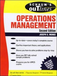 Cover of the book Operations management (2nd edition / Schaum's outline series)