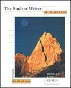 Couverture de l'ouvrage The student writer: editor & critic 5th ed 1999
