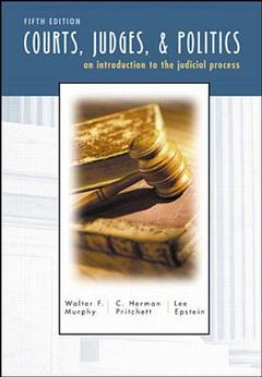Cover of the book Courts, judges and politics (5th ed )
