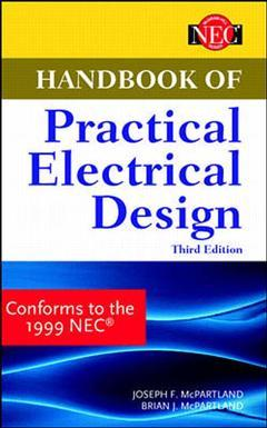 Couverture de l'ouvrage Handbook of practical electrical design 3rd ed 1998