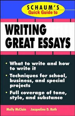 Cover of the book Schaum's quick guide to essay writing