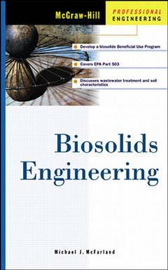 Couverture de l'ouvrage Biosolids engineering