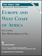 Couverture de l'ouvrage Tide tables 1999: europe and west coast of africa, including mediterranean