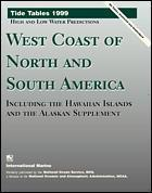 Couverture de l'ouvrage Tide tables 1999: west coast of north and south america, including the hawaiian islands