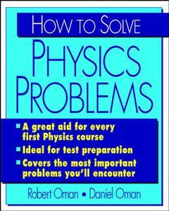 Couverture de l'ouvrage How to solve physics problems