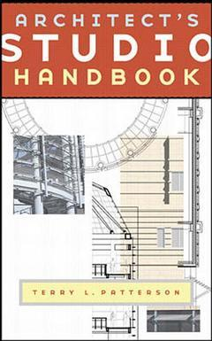 Cover of the book Architect's studio handbook