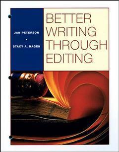 Couverture de l'ouvrage Better writing through edition (paper)