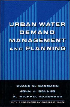 Couverture de l'ouvrage Urban water demand management and planning
