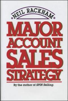 Couverture de l'ouvrage Major Account Sales Strategy