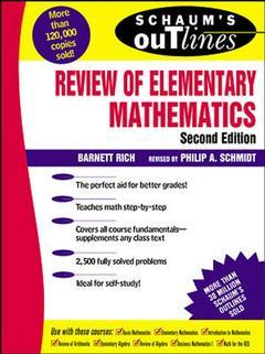 Couverture de l'ouvrage Schaums review elementary mathematics Including 2500 solved problems
