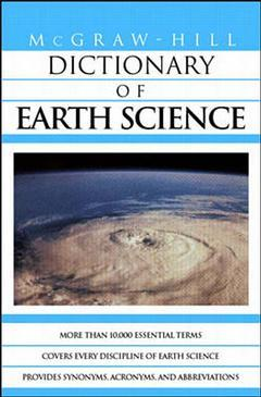 Couverture de l'ouvrage MGH dictionary of earth science (paper)