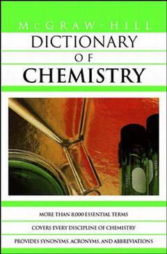 Couverture de l'ouvrage MGH dictionary of chemistry (paper)
