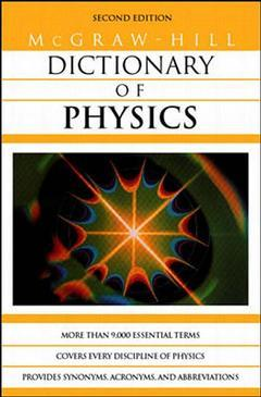 Couverture de l'ouvrage MGH dictionary of physics (paper)