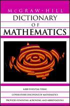 Couverture de l'ouvrage MGH dictionary of mathematics (paper)