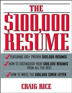 Couverture de l'ouvrage The $100,000 resume (paper)