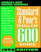 Couverture de l'ouvrage Standard & poor's smallcap 600 guide ed 1998 (paper)