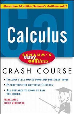 Couverture de l'ouvrage Schaum's easy oudine calculus