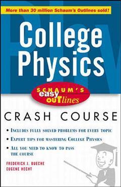 Couverture de l'ouvrage Schaum's easy outline , college physics (paper)