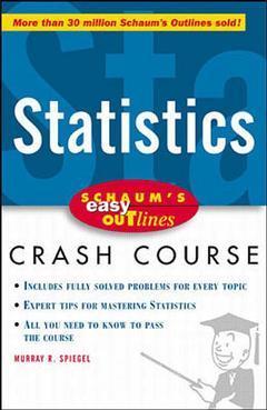Couverture de l'ouvrage Schaum's easy outline statistics (paper)