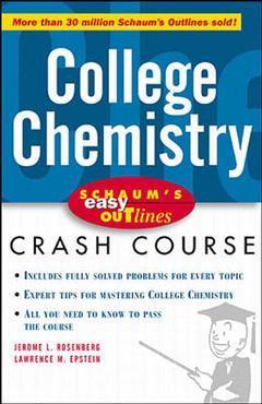 Couverture de l'ouvrage Schaum's easy outline : college chemistry