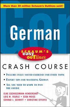 Couverture de l'ouvrage Schaum's easy outline : German (paper)