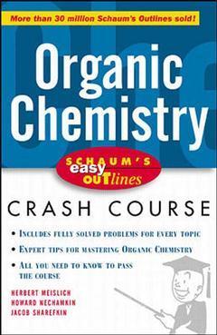 Couverture de l'ouvrage Schaum's easy outline : organic chemistry