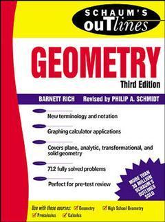 Couverture de l'ouvrage Schaum's outline of geometry, 3rd ed 2000