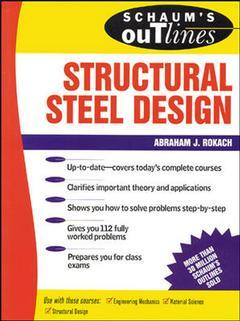 Couverture de l'ouvrage Structural steel design (Schaum)