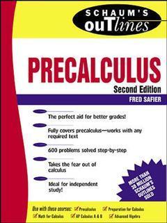 Couverture de l'ouvrage Schaum's outline of precalculus (paper)