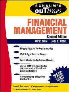 Couverture de l'ouvrage Schaum's outline of financial management 2nd edition 1998 (paper)