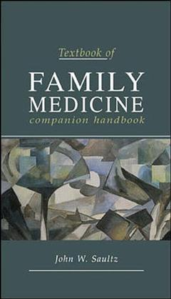 Couverture de l'ouvrage Textbook of family medicine, companion handbook