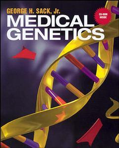Couverture de l'ouvrage Medical genetics and CD-ROM Mac / Wind
