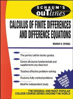 Couverture de l'ouvrage Calculus of finite differences and difference equations (Schaum) 3rd ed'71